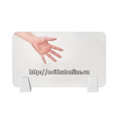 Vách ngăn kính bàn làm việc | Vách ngăn kính cường lực 8 mm