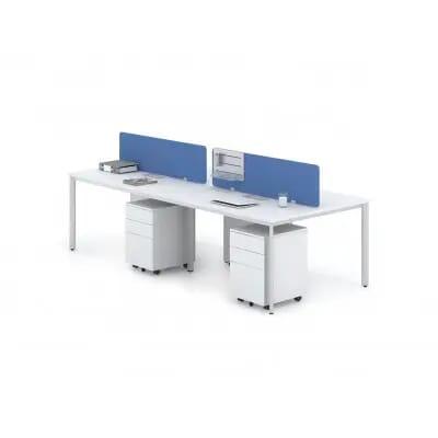Cụm Bàn làm việc chân sắt BCO-4A | Modul bàn làm việc văn phòng