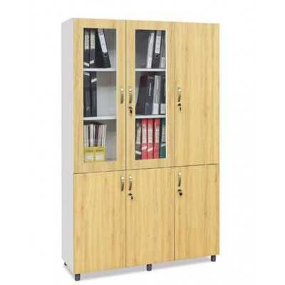 Tủ cao 3 buồng khung sắt cánh gỗ TSG04k-3