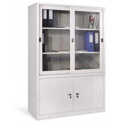 Tủ tài liệu sắt cao cánh kính lùa TL03B